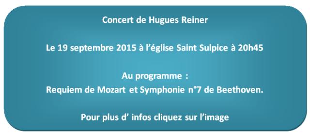 concert hugues reiner le 19 septembre 2015