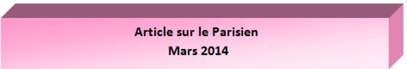 Article sur le Parisen Mars 2014